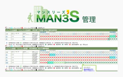 マンスリーズ管理の画面